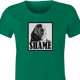 funny game of thrones shame parody t-shirt women's green