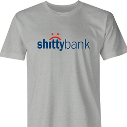 funny Shitty Bank Parody men's t-shirt