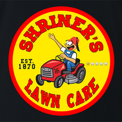 funny Shriners Lawn Care Google Review Parody - Jokers parody t-shirt white
