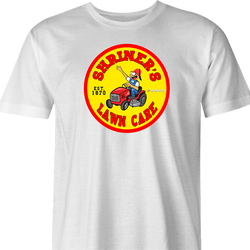 funny Shriners Lawn Care Google Review Parody - Jokers parody men's t-shirt white