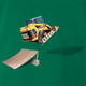 funny Awesome Bulldozer Ramp Jump - Skid Steer Jumper kelly green t-shirt