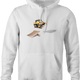 funny Awesome Bulldozer Ramp Jump - Skid Steer Jumper white hoodie