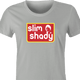 funny Slim Shady Eminem - Snap Into A Slim Jim Mashup t-shirt women's Ash Grey