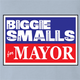 funny biggie smalls for mayor vote notrious big light blue t-shirt