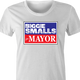 funny biggie smalls for mayor vote notrious big white women's t-shirt