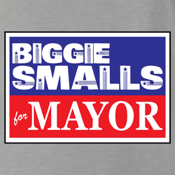 funny biggie smalls for mayor vote notrious big white men's t-shirt