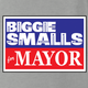 funny biggie smalls for mayor vote notrious big ash grey t-shirt