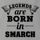 funny Legends are born in smarch the simpsons t-shirt grey