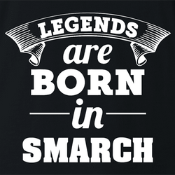 funny Legends are born in smarch the simpsons t-shirt white men's