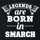 funny Legends are born in smarch the simpsons t-shirt black