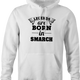 funny Legends are born in smarch the simpsons t-shirt white men's hoodie