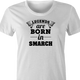 funny Legends are born in smarch the simpsons t-shirt white women's