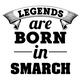 funny Legends are born in smarch the simpsons t-shirt white