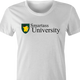 funny Smartass University t-shirt white women's