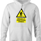 Zombie Walking With Cellphone funny hoodie white