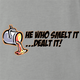 funny FindingFast Hot Rods By Troy He Who Smelt It Delt It Parody ash grey t-shirt
