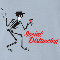 funny Social Distancing for COVID-19 Parody white men's t-shirt