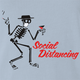 funny Social Distancing for COVID-19 Parody light Blue t-shirt
