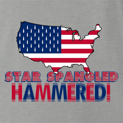 funny Star spangle hammered drinking tshirt murica! white men's t-shirt