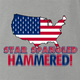 funny Star spangle hammered drinking tshirt murica! ash grey t-shirt