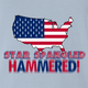 funny Star spangle hammered drinking tshirt murica! light Blue t-shirt