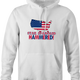 funny Star spangle hammered drinking tshirt murica! white hoodie