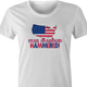 funny Star spangle hammered drinking tshirt murica! white women's t-shirt