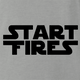 funny Start Fires Star Wars Parody ash grey t-shirt