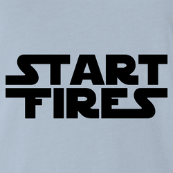 funny Start Fires Star Wars Parody white men's t-shirt