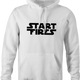 funny Start Fires Star Wars Parody white hoodie