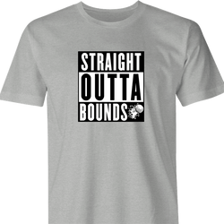 Funny Hip Hop Meets Golf Straight Out Of Bounds - Golfers With Attitude Mashup men's t-shirt