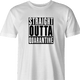 funny Straight-Outta-Quarentine -  Straight-Outta-compton Parody white men's t-shirt