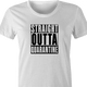 funny Straight-Outta-Quarentine -  Straight-Outta-compton Parody white women's t-shirt