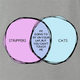 funny Strippers and Cats Overlap Graph Parody ash grey t-shirt