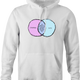 funny Strippers and Cats Overlap Graph Parody white hoodie