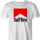 funny what's up bro? marlboro t-shirt white men's