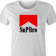 funny what's up bro? marlboro t-shirt white women's
