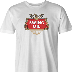 Funny Golf Swing Oil Parody White Men's T-Shirt For Golfers