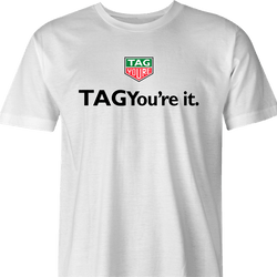 Funny Tag You're It Trailer Park Boys Grease Parody Mashup White Men's T-Shirt For Golfers