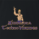 minnesota techno vikings black t-shirt