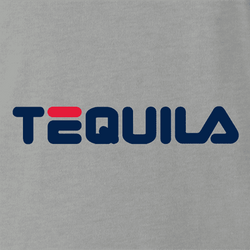 fila tequila drinking t-shirt grey