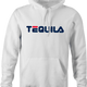 funny drinking tequila hoodie white