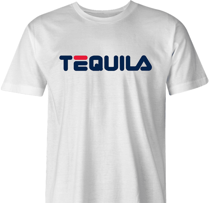 funny drinking tequila t-shirt men's white