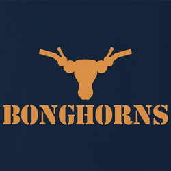 Funny Texas Longhorns Smoking Weed Bong Parody Mashup Parody men's t-shirt