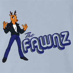 funny Happy Days Fonz The Fawnz Deer parody parody t-shirt white