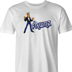 funny Happy Days Fonz The Fawnz Deer parody t-shirt white men's
