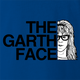 funny Wayne's World Funny Garth Face royal blue t-shirt