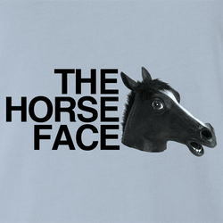 funny Horse Face Mask Parody men's t-shirt