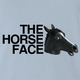 funny Horse Face Mask Parody light blue t-shirt