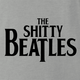 funny Wayne's world shitty beatles t-shirt grey
